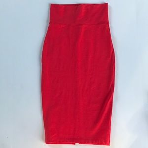 BEBE Red Pencil Skirt. Size XS
